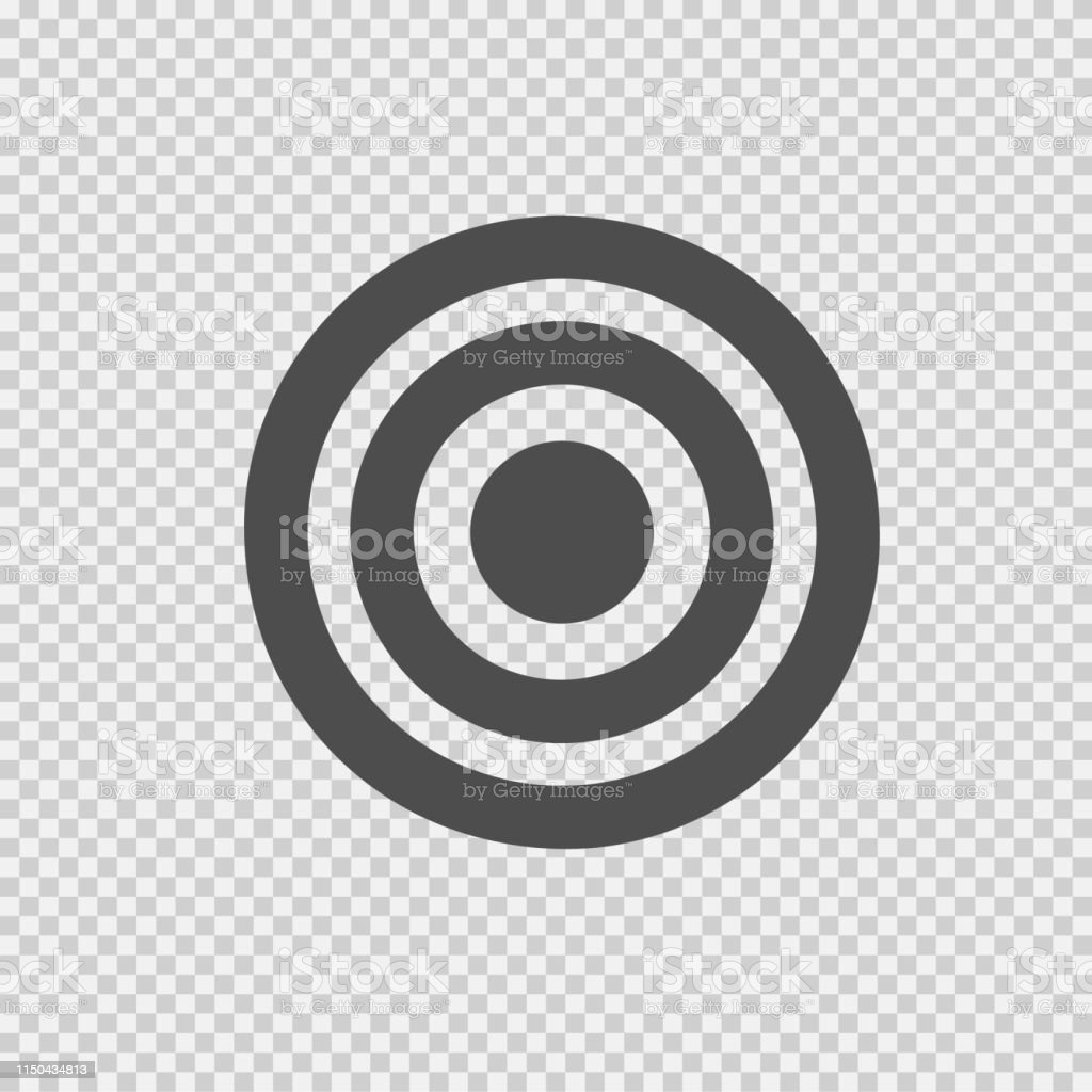 Target vector icon eps 10. Simple isolated pictogram.