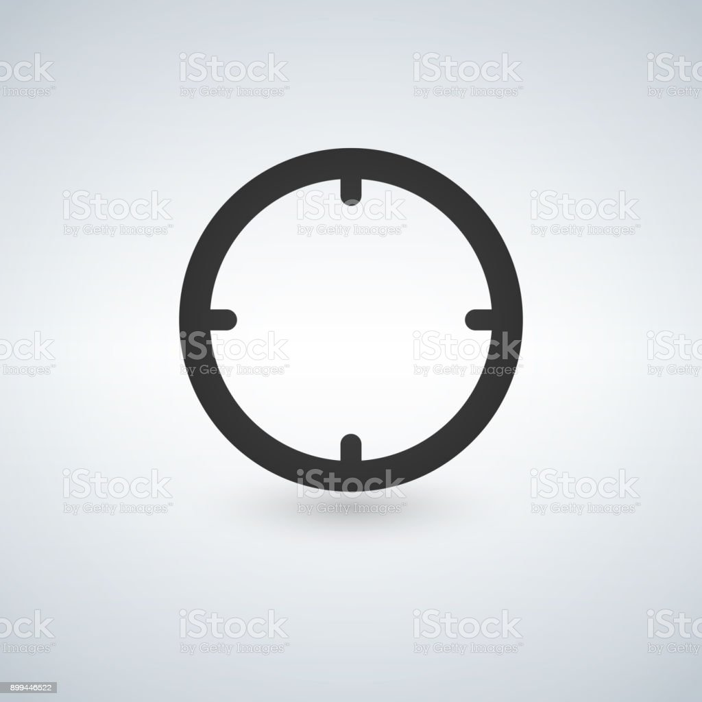 Target vector icon isolated on white background. vector art illustration