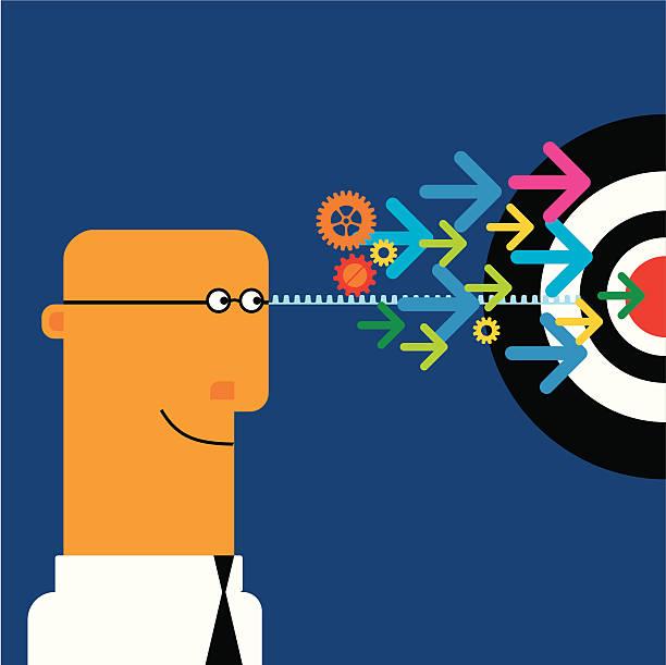 ilustraciones, imágenes clip art, dibujos animados e iconos de stock de objetivo - tintanegra00