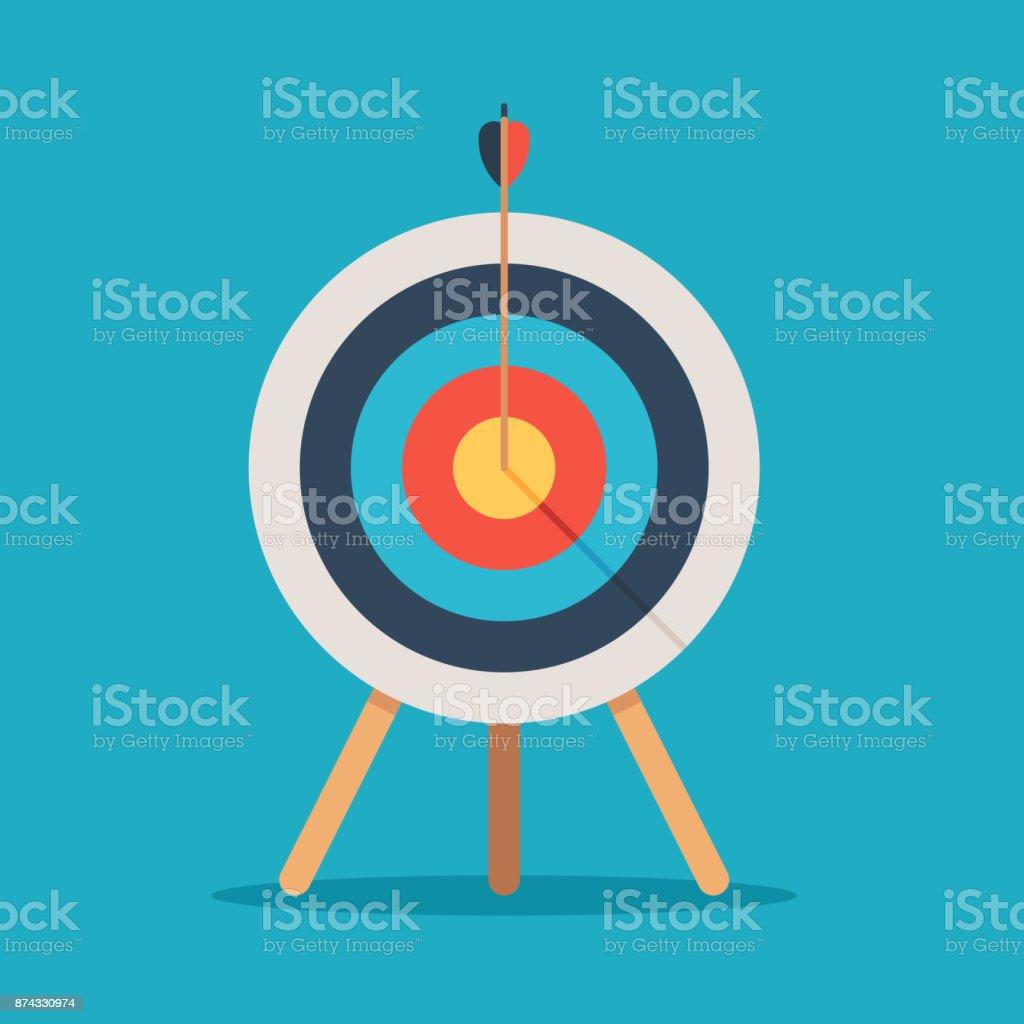 Apuntar con la flecha en el centro ilustración de apuntar con la flecha en el centro y más vectores libres de derechos de actuación - conceptos libre de derechos