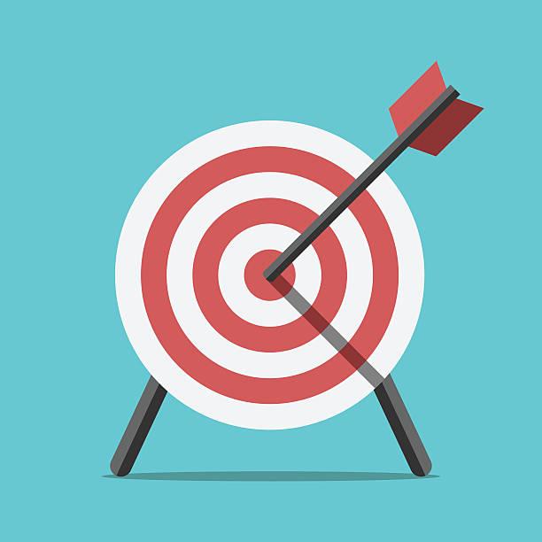 Ziel, mit Pfeil stehend – Vektorgrafik