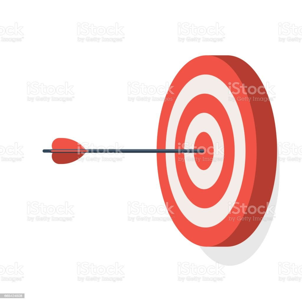 Target with arrow vector art illustration