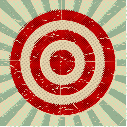 Target with grunge halftone pattern