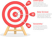Target with three arrows, three steps to your goal, vector eps10 illustration