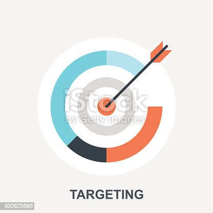 Vector illustration of targeting flat design concept.