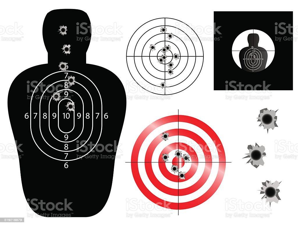 Targets vector art illustration