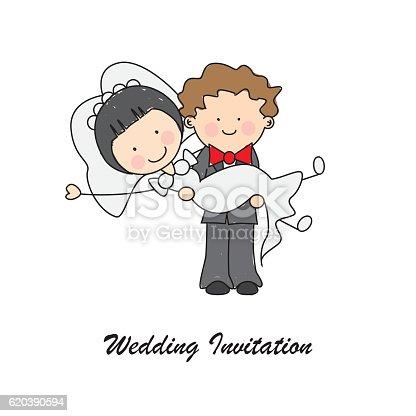 istock Tarjeta invitación de boda 620390594