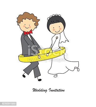 istock Tarjeta invitación de boda 629391550