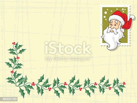 istock tarjeta navideña con muerdago 93000763