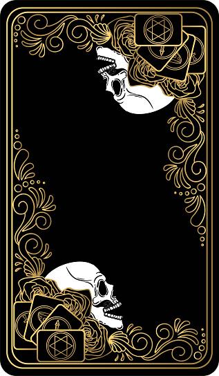 Tarot card reverse side