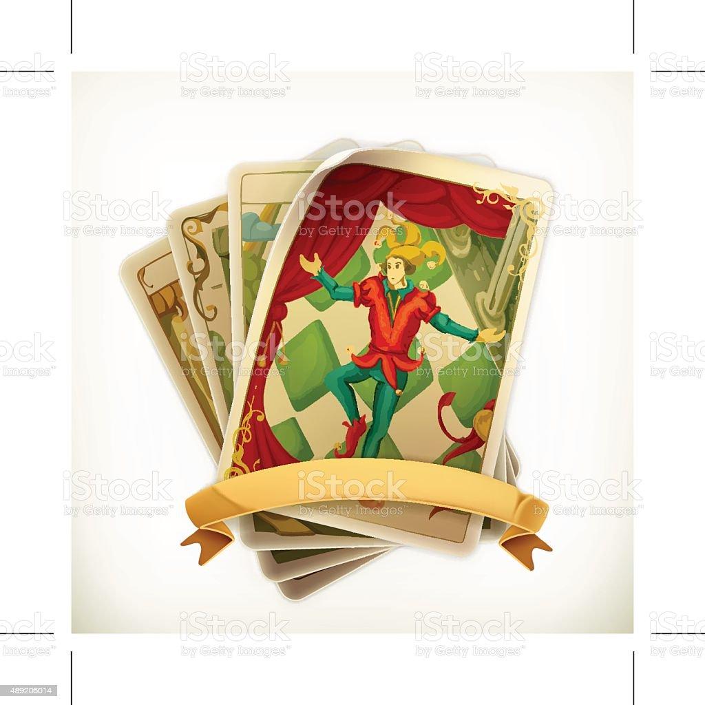 Tarot vintage icon vector art illustration