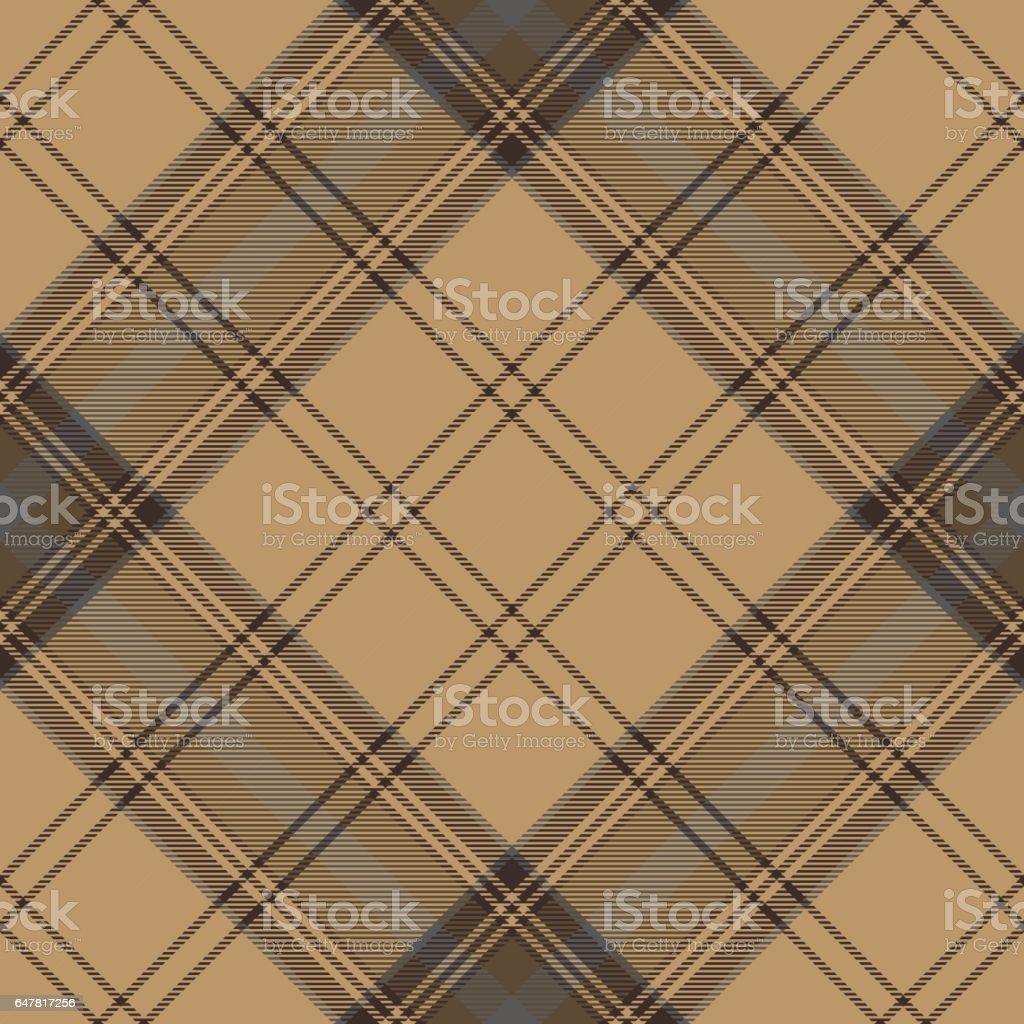 Fantastisch Tartan Brown Beige Seamless Fabric Texture Ilustração De Tartan Brown Beige  Seamless Fabric Texture E Mais