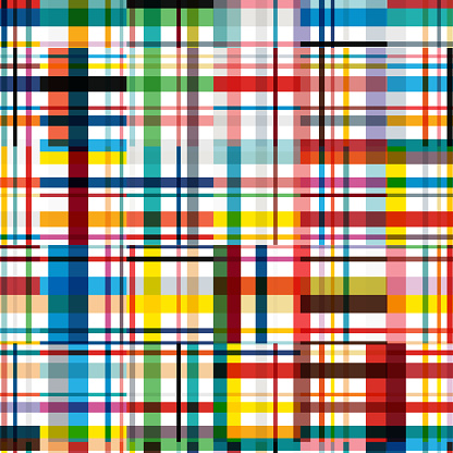 Tartan colorful striped grids seamless pattern textile textured background