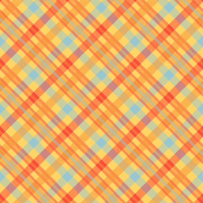 Tartan orange color seamless vector pattern. T-shirt fabric texture. Flannel textile background