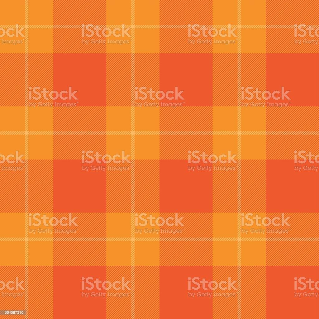 Orange tartan pattern. Seamless background in warm autumn color.
