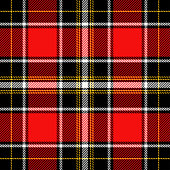 Tartan Pattern in Red and Black Texture for plaid, tablecloths, clothes, shirts, dresses, paper, bedding, blankets, quilts and other textile products. Vector illustration EPS 10