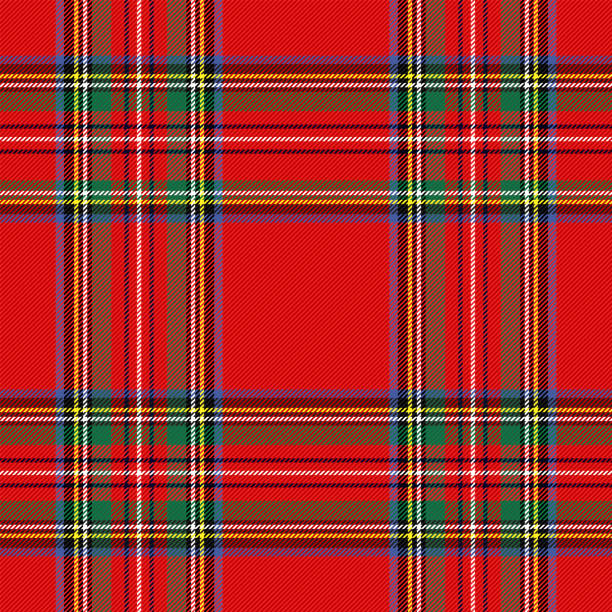 Tartan pattern. Scottish cage background Tartan pattern. Scottish cage. Scottish checkered background. Traditional scottish ornament. Scottish plaid in classic colors. Seamless fabric texture. Christmas new year decor. Vector illustration tartan pattern stock illustrations