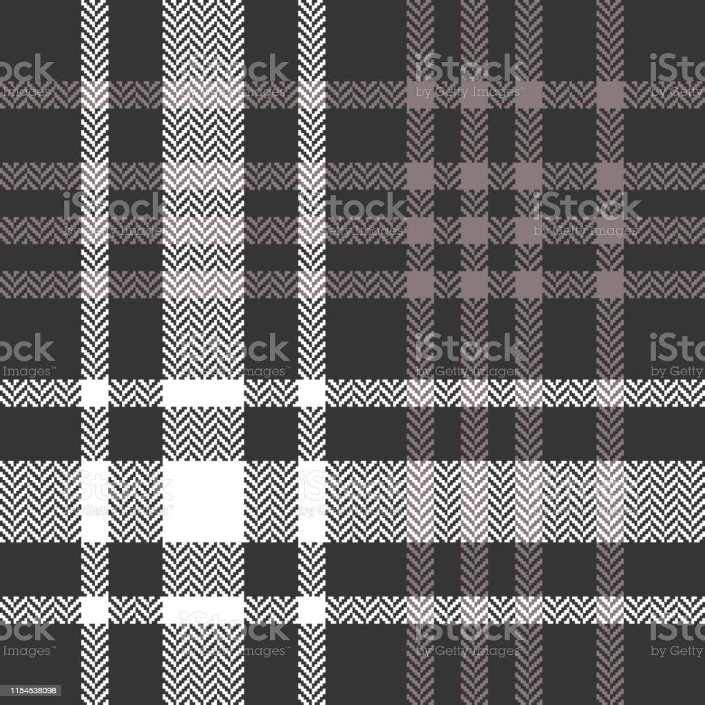 Tartan pattern. Seamless herringbone check plaid pattern in brown and...