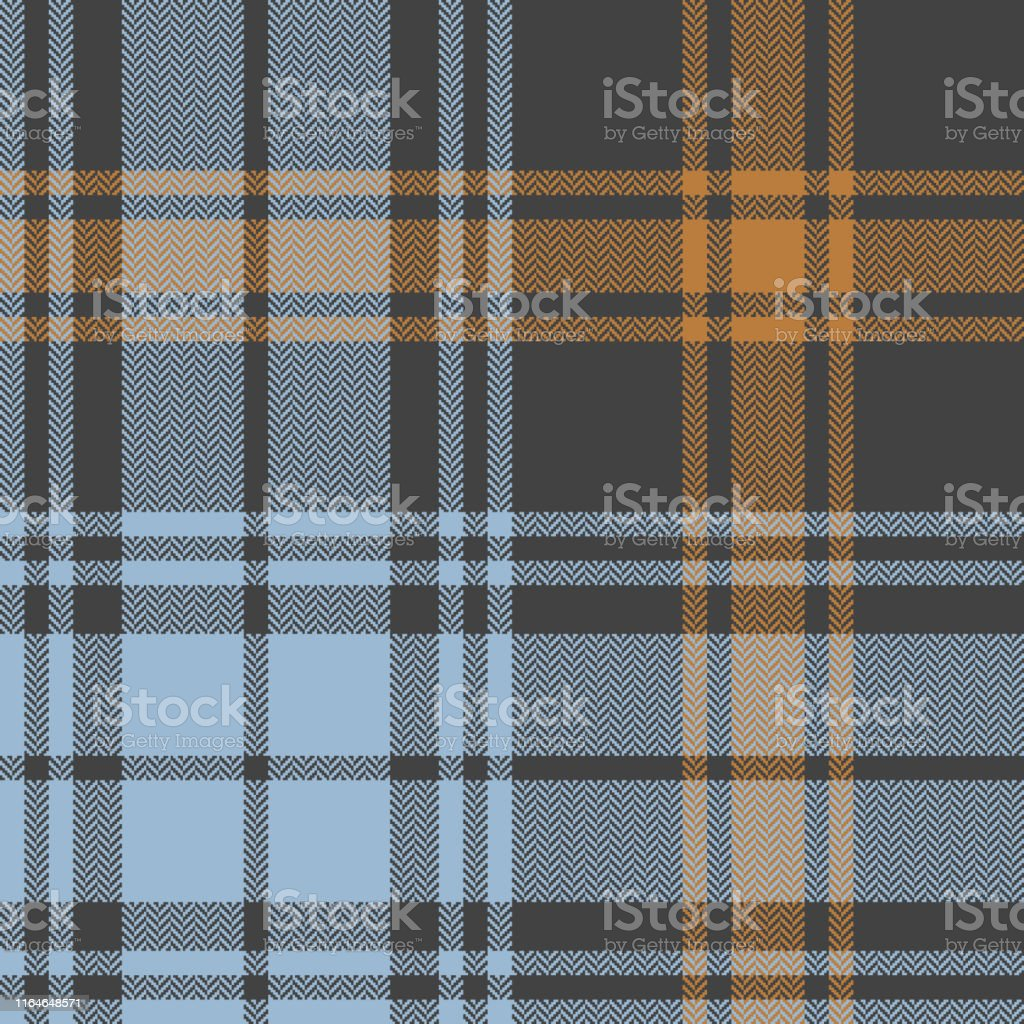Tartan plaid pattern. Seamless herringbone check plaid in dark grey,...