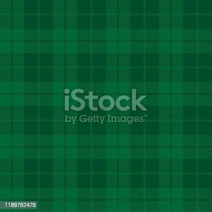 Tartan plaid seamless pattern green line fabric texture green background, Scottish cage