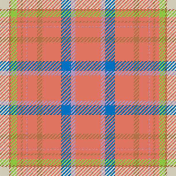 tartan scotland seamless plaid pattern vector. retro background fabric. vintage check color square geometric texture. - stripped pattern stock illustrations, clip art, cartoons, & icons