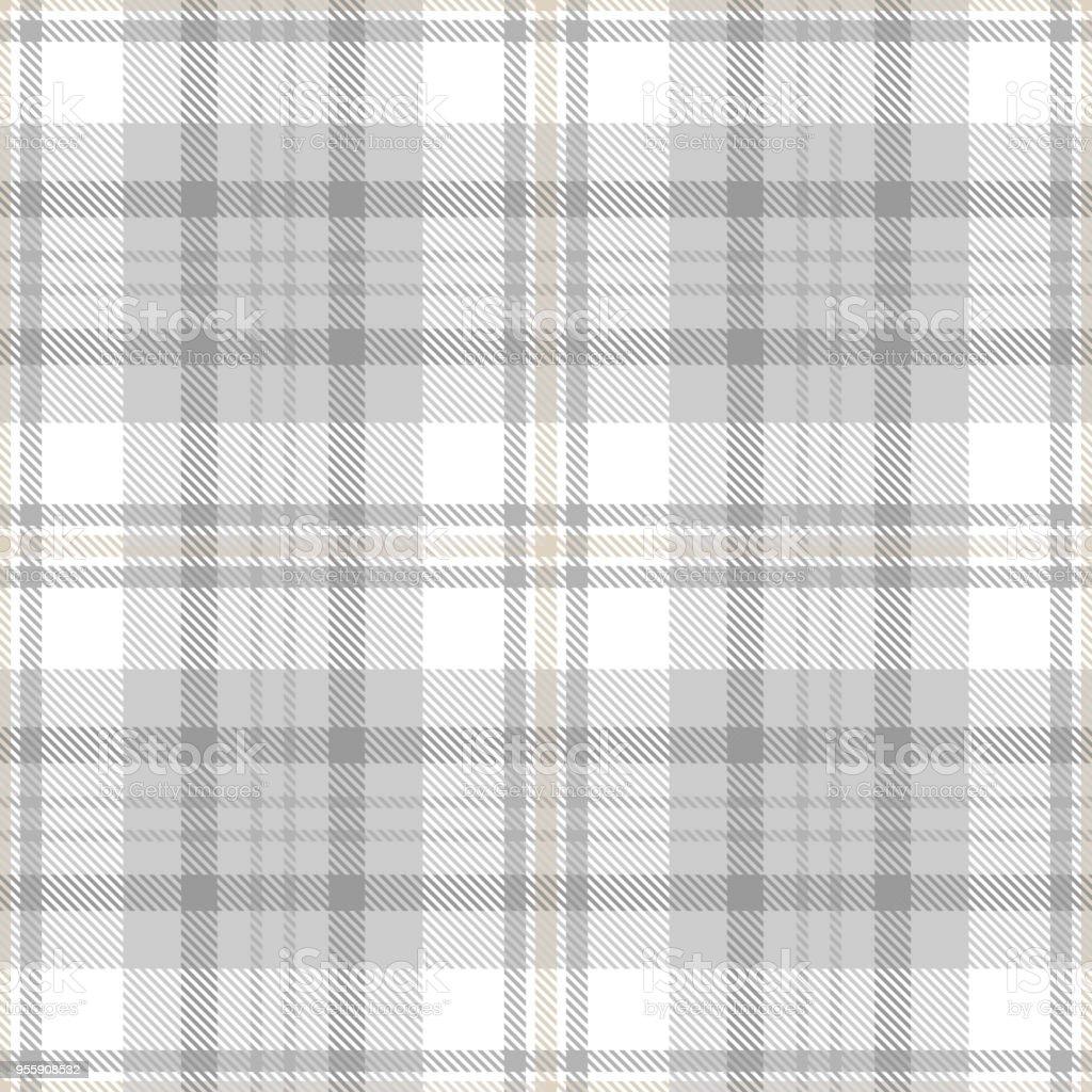 Tartan Musterdesign Hintergrund Staubigen Beige Und Weiß Farbe In Pastell  Grau Kariert Lizenzfreies Tartan Musterdesign Hintergrund