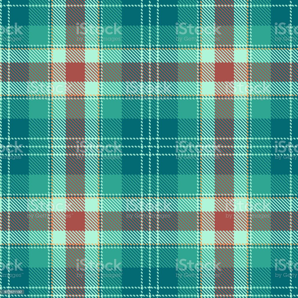 Tartan seamless pattern. Green and bordo plaid. Tartan flannel background. Trendy tiles Illustration for wallpapers векторная иллюстрация