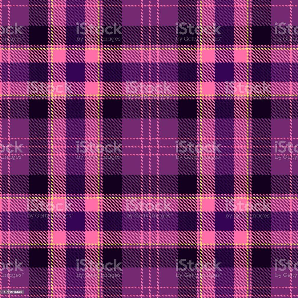 タータンのシームレスなパターン紫とピンクのチェック柄タータン