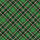 Tartan seamless pattern,diagonal background.Green