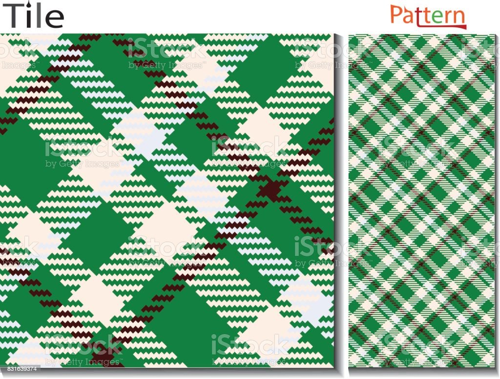 Tartan type plaid pattern vector which is looks alike lumberjack plaid and buffalo type check pattern it is seamless plaid pattern and checkered texture pattern  textile fabric swatch which is diagonal plaid pattern like Scottish plaid fashion cloth for p vector art illustration