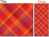 Textile fabric swatch with plaid fashion design of modern and old fashioned mix combination a little twill touch ,ornamental wrapping paper seamless vector pattern.British clothing pattern it is also looks like kilt menzies lumberjill Cornish wallpaper backdrop background bedsheets shirts design