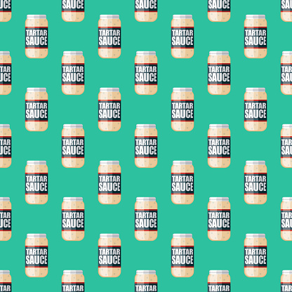 Tartar Sauce Condiment Pattern