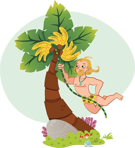 Tarzan vector art illustration