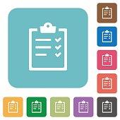 Task list flat icons