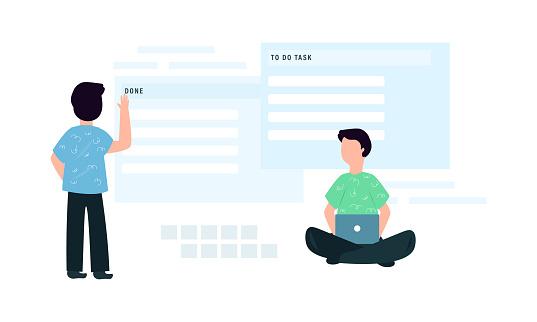 task management illustration background