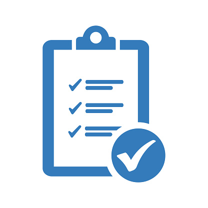 Tasks check, checklist icon. Beautiful design and fully editable vector for commercial, print media, web or any type of design projects.