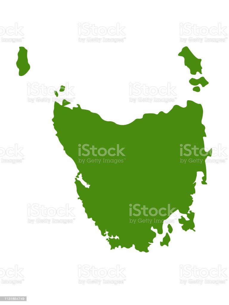 Map Australia Tasmania.Tasmania Map Stock Vector Art More Images Of Australia Istock