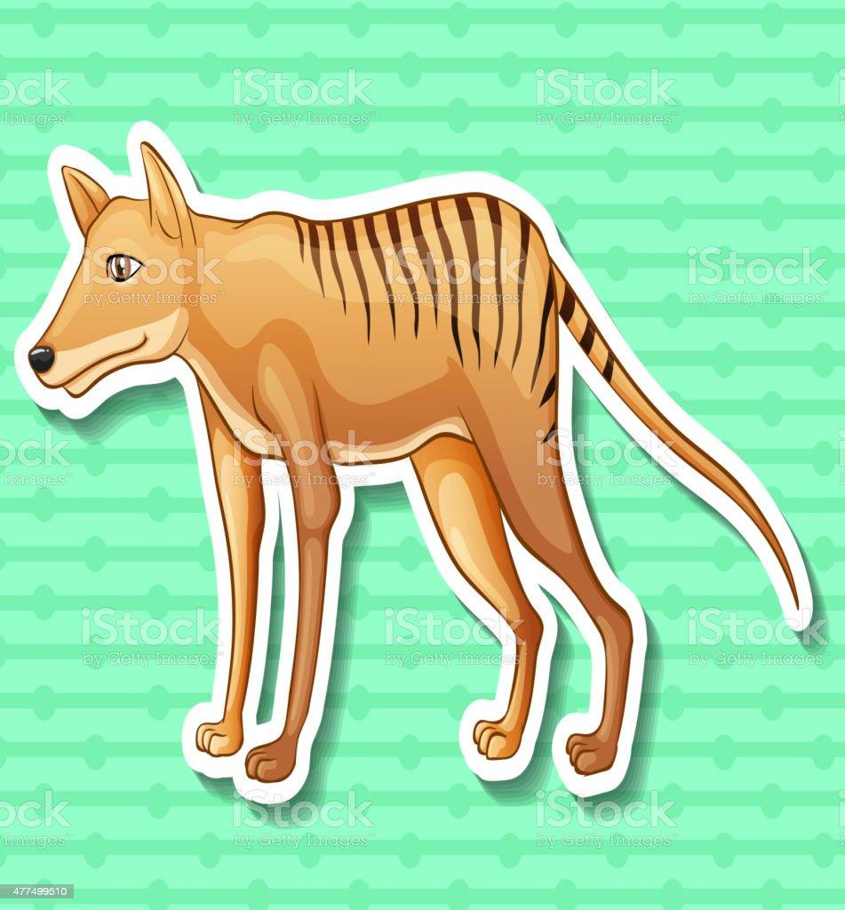 Tasmanian tiger vector art illustration