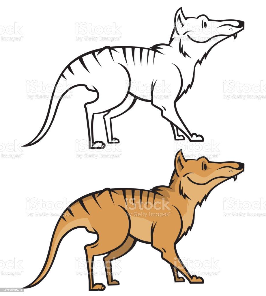 Tasmanian wolf vector royalty-free stock vector art