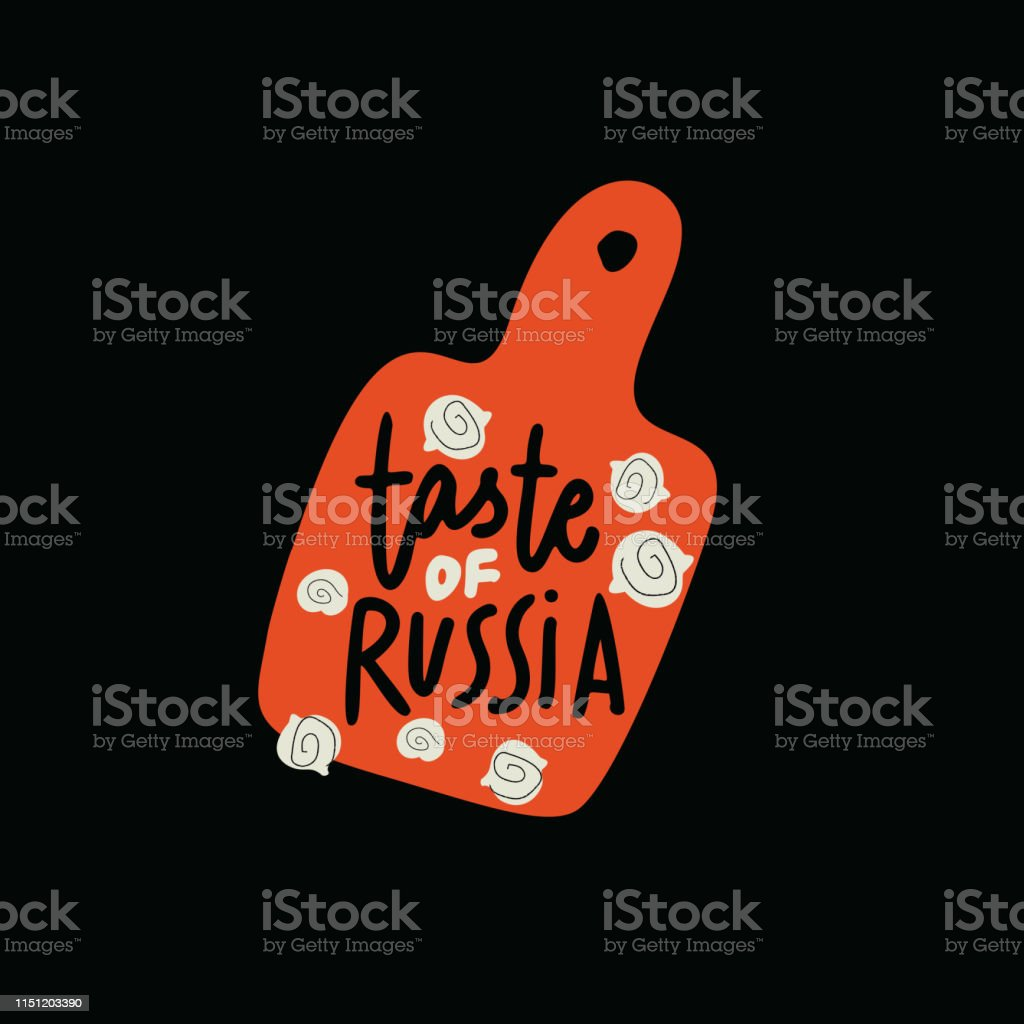 Taste of Russia. Logo concept for russian restaurant. Hand drawn...
