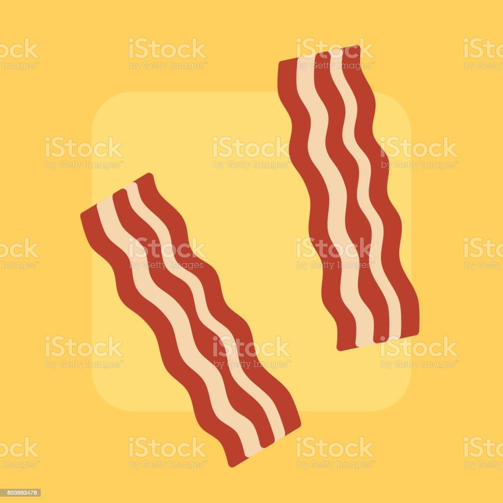 Tasty bacon vector art illustration