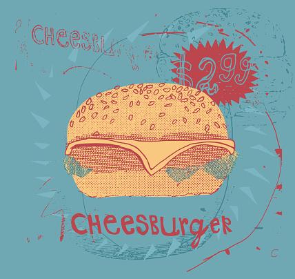 A tasty cheeseburger