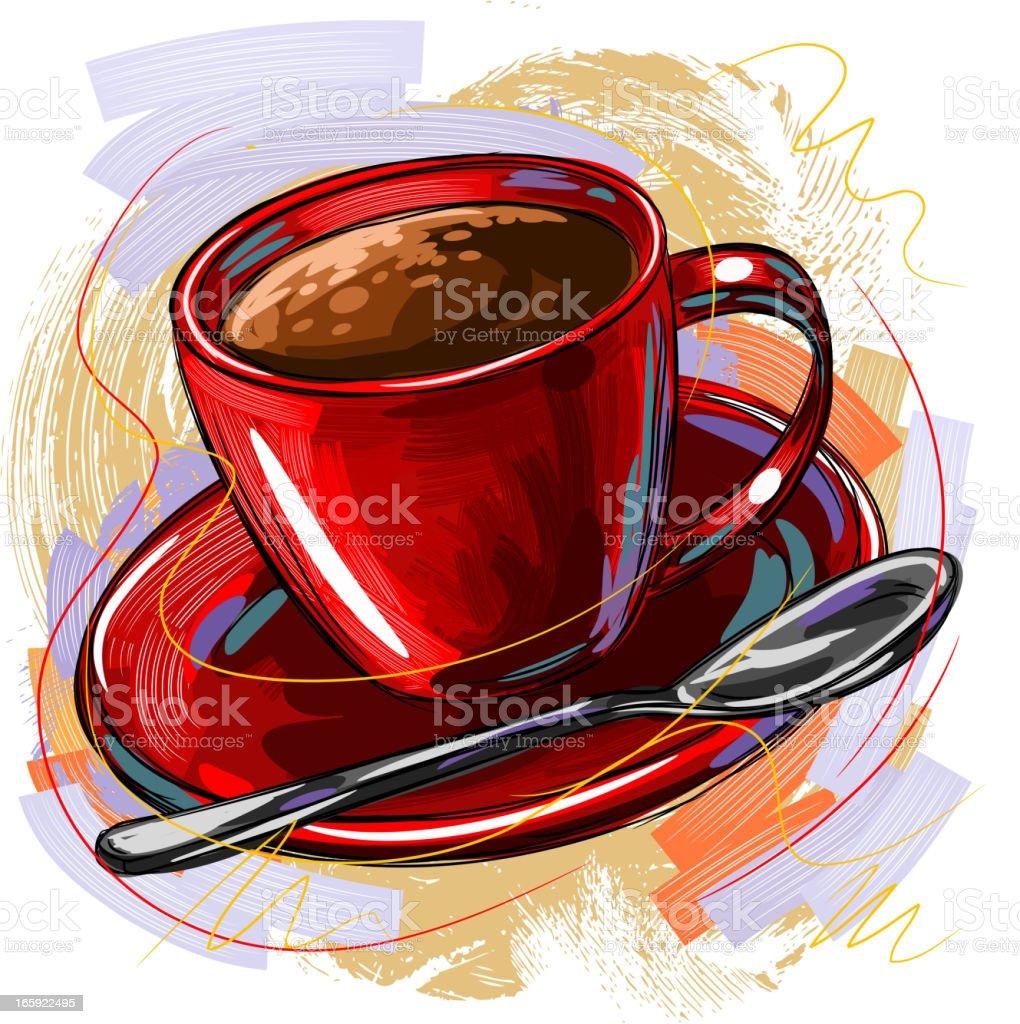 Tasty Coffee vector art illustration