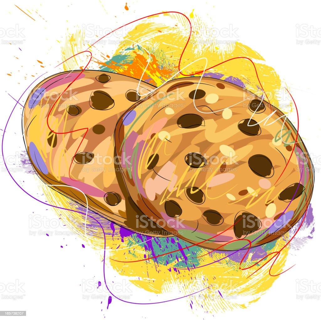 Tasty cookies royalty-free stock vector art