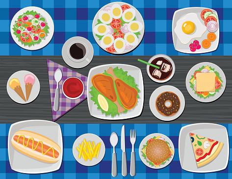 Tasty Food On Table