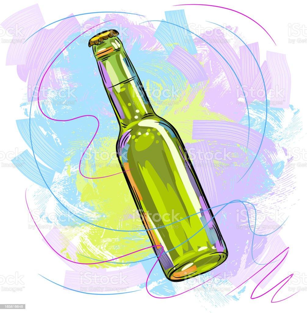 Tasty Green Beer Bottle royalty-free tasty green beer bottle stock vector art & more images of alcohol