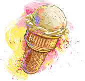 Tasty Ice cream, all elements are in separate layers and grouped, created as very artistic painterly style. Please visit my portfolio for more options. Please see More related images in these lightboxes: