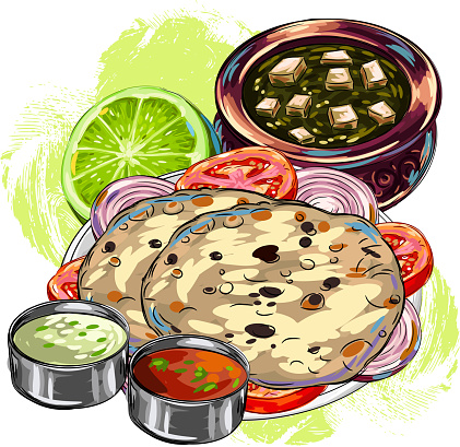 Indian food stock illustrations