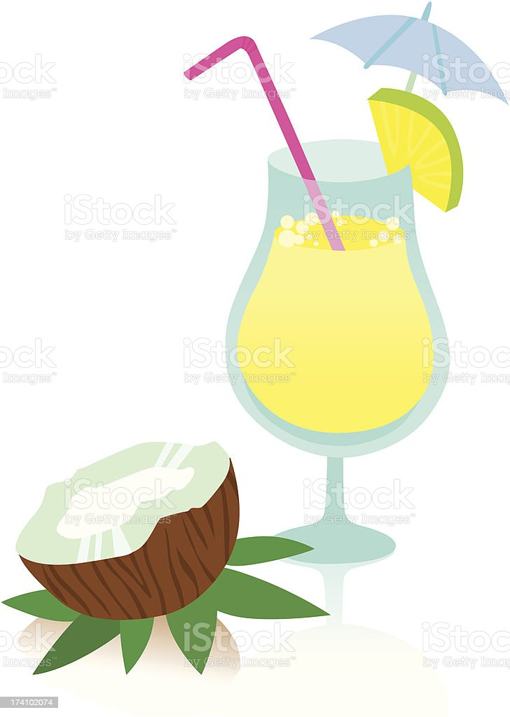 Tasty Pina Colada Cocktail royalty-free tasty pina colada cocktail stock vector art & more images of alcohol