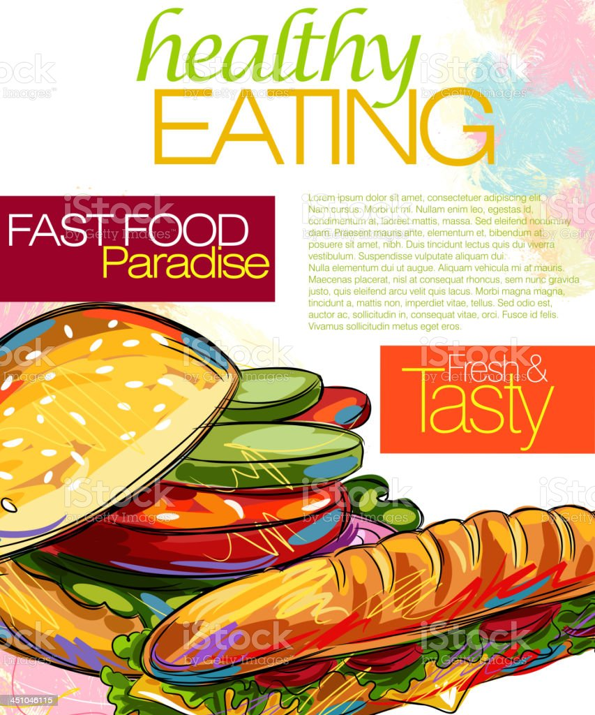Tasty Sandwich royalty-free stock vector art
